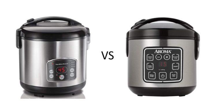 Hamilton Beach vs Aroma ARC Rice Cooker