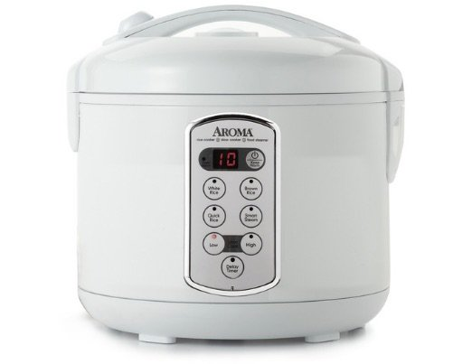 aroma rice cooker white