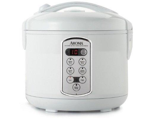 aroma rice cooker white