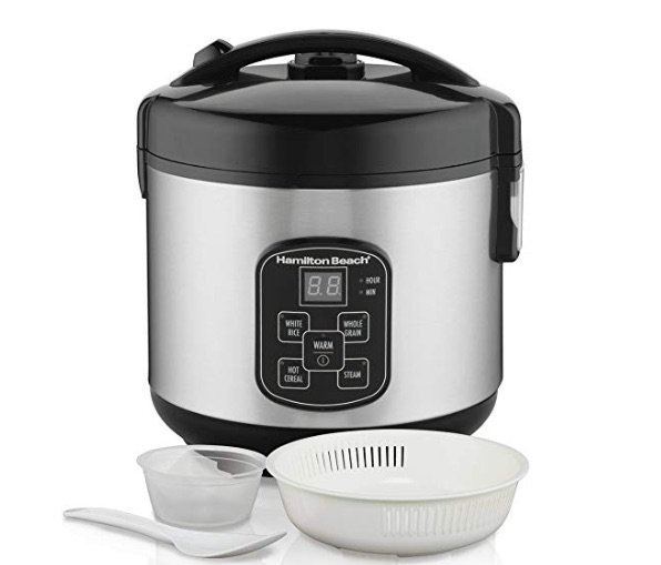 Hamilton Beach (37518) Rice Cooker, 4 Cups