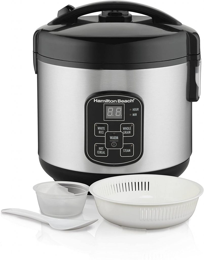 Hamilton Beach 8-Cup Digital Programmable Rice Cooker & Food Steamer 37518