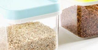 storing rice in food container